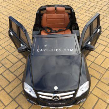 Электромобиль Mercedes-Benz GLK 300 (резиновые колеса, кожа, пульт, музыка, ГЛЯНЦЕВАЯ ПОКРАСКА)